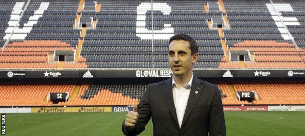 Gary Neville unveiled as the new Valencia coach