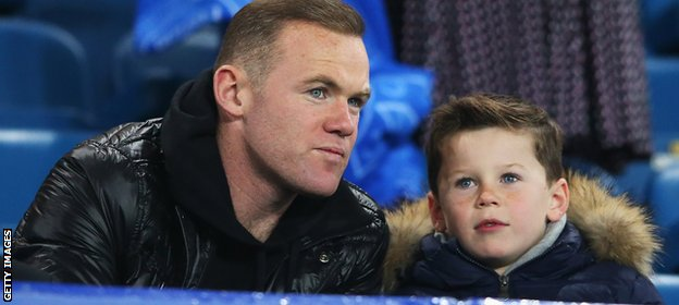 Wayne Rooney watches Everton game